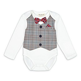 Beetle & Thread® Plaid Vest Bodysuit