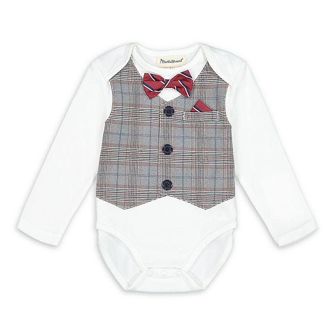 Alternate image 1 for Beetle & Thread® Plaid Vest Bodysuit
