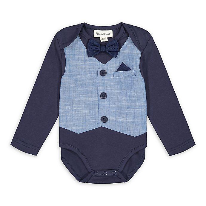 Alternate image 1 for Beetle & Thread® Chambray Vest Bodysuit