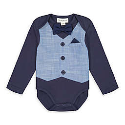 Beetle & Thread® Chambray Vest Bodysuit