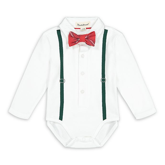 Alternate image 1 for Beetle & Thread® Holiday Suspender Bodysuit