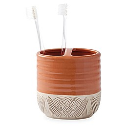 Tommy Bahama® Pineapple Palm Ceramic Toothbrush Holder in Red