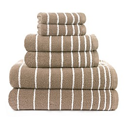 American Dawn 6-Piece Evelyn Stripe Bath Towel Set