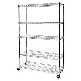 Seville Classics UltraDurable Steel Wire Shelving System with Wheels