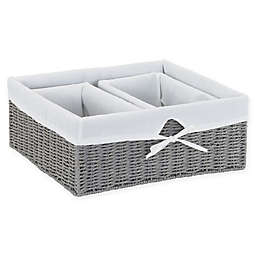 Household Essentials 3-Piece Set Paper Rope Utility Baskets in Grey