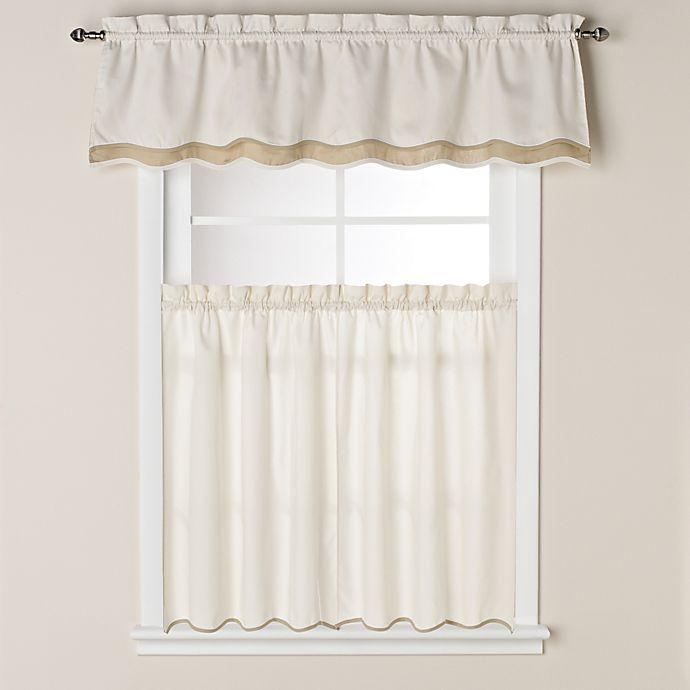 Alternate image 1 for Pipeline 24-Inch Window Curtain Tier Pair in Bone