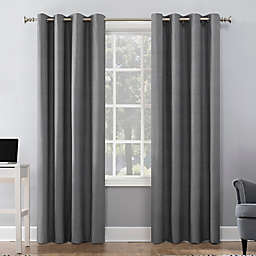 Sun Zero® Duran 95-Inch Grommet 100% Blackout Window Curtain Panel in Grey (Single)