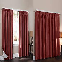 Wraparound Sierra 84-Inch Room Darkening Noise Reducing 2-Pack Window Curtain Panels in Burgundy