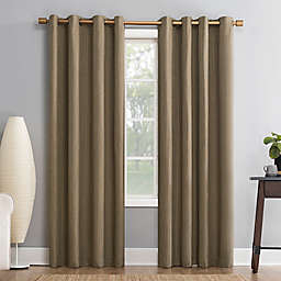 Sun Zero®Gavlin Crosshatch Jacquard Grommet Total Blackout Curtain Panel