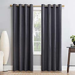 Sun Zero Gavlin 84-Inch Grommet 100% Blackout Curtain Panel in Smoke Grey (Single)