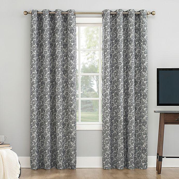 Alternate image 1 for Sun Zero® Dagmar Botanical Paisley Grommet Total Blackout Curtain Panel