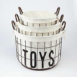 Mud Pie® 3-Piece Wire Storage Basket Set