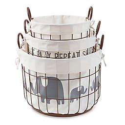 Mud Pie® 3-Piece Safari Wire Storage Basket Set