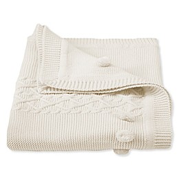 Mud Pie® Cable Knit Receiving Blanket