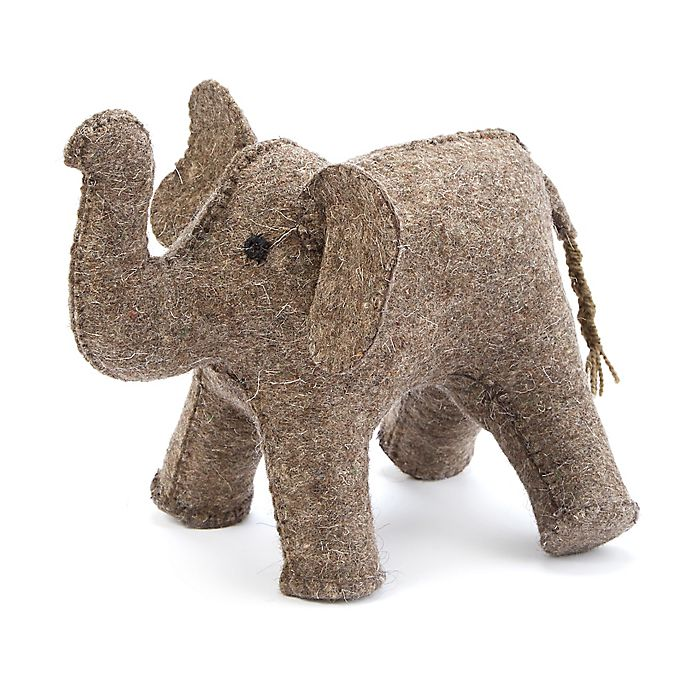 Alternate image 1 for Mud Pie® Felt Elephant Bookend