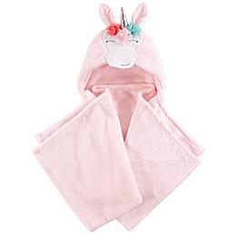 Hudson Baby® Plush Whimsical Unicorn Hooded Blanket in Pink