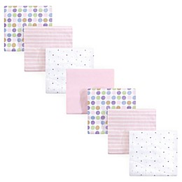 Luvable Friends® 7-Pack Flannel Receiving Blankets in Pink