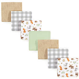 Hudson Baby® 7-Pack Woodland Flannel Receiving Blankets in Green