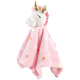 Luvable Friends® Unicorn Stars Security Blanket in Pink
