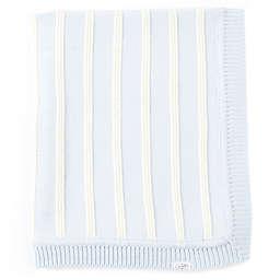 Mud Pie® Knit Stripe Receiving Blanket in Blue