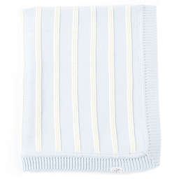 Mud Pie® Knit Stripe Receiving Blanket in Blue