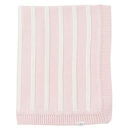 Mud Pie® Knit Stripe Receiving Blanket in Pink