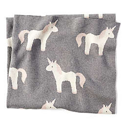 Mud Pie® Knit Unicorn Receiving Blanket in Grey