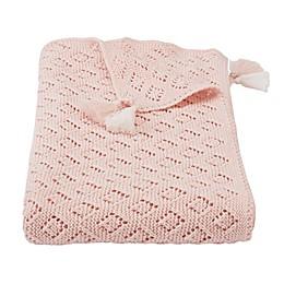 Mud Pie® Pointelle Receiving Blanket in Pink