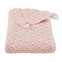 Mud Pie® Pointelle Receiving Blanket in Pink