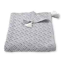 Mud Pie® Pointelle Receiving Blanket in Grey