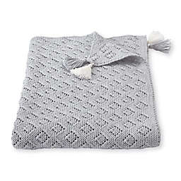 Mud Pie® Pointelle Receiving Blanket in Grey