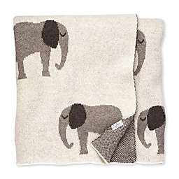 Mud Pie® Knit Elephant Receiving Blanket in White