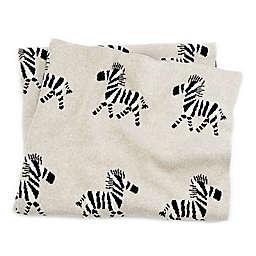 Mud Pie® Knit Zebra Receiving Blanket in Tan