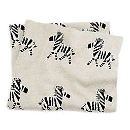 Mud Pie® Knit Zebra Receiving Blanket in Tan