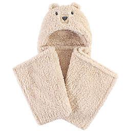 Hudson Baby® Cozy Bear Plush Hooded Blanket in Brown