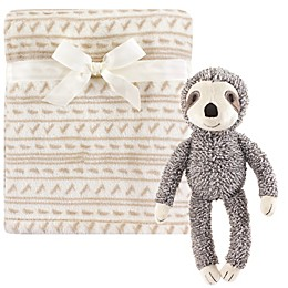 Hudson Baby® 2-Piece Sloth Plush Blanket and Toy Set in Brown