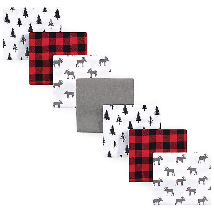 Alternate image 1 for Hudson Baby® 7-Pack Moose Flannel Receiving Blankets