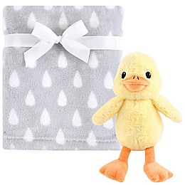 Hudson Baby® 2-Piece Duck Plush Blanket and Toy Set in Yellow/Grey