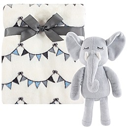 Hudson Baby® 2-Piece Modern Elephant Baby Blanket and Plush Toy Set in Cream
