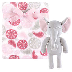 Hudson Baby® 2-Piece Paisley Elephant Plush Blanket and Toy Set in Grey