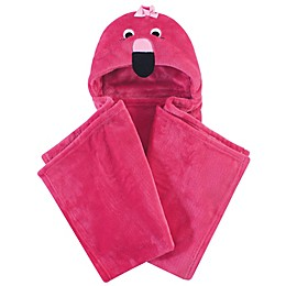 Hudson Baby® Flamingo Plush Hooded Blanket in Pink