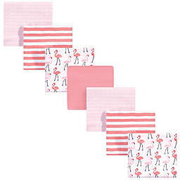 Hudson Baby® 7-Pack Flamingo Flannel Receiving Blankets