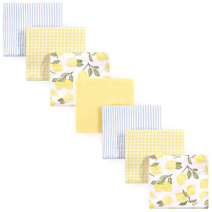 Alternate image 1 for Hudson Baby® 7-Pack Lemons Flannel Receiving Blankets