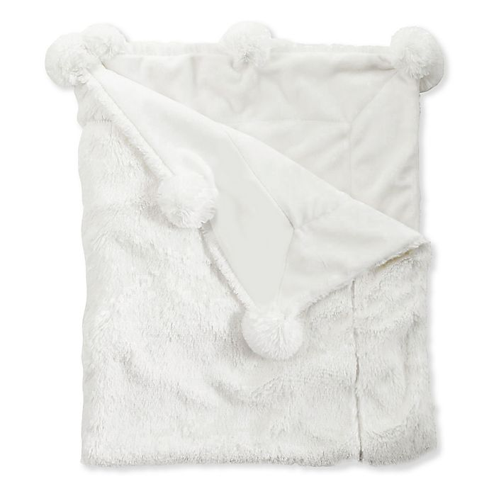 Alternate image 1 for Mud Pie® Pom Pom Receiving Blanket