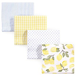 Hudson Baby® Flannel 4-Pack Receiving Blankets