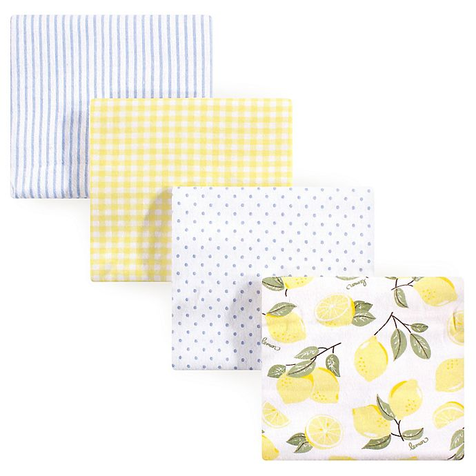 Hudson Baby 4 Piece Flannel Receiving Blanket One Size Woodland