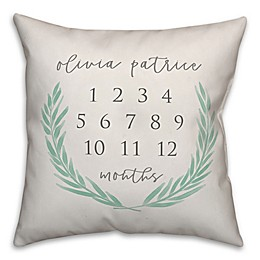 Designs Direct Soft Green Laurels 18-Inch Square Throw Pillow