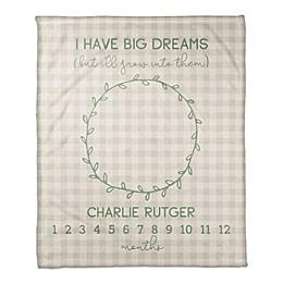 Designs Direct I Have Big Dreams Throw Blanket