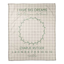Designs Direct I Have Big Dreams Throw Blanket