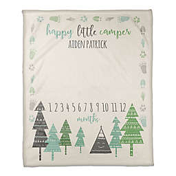 Happy Little Camper 50x60 PZ Throw Blanket